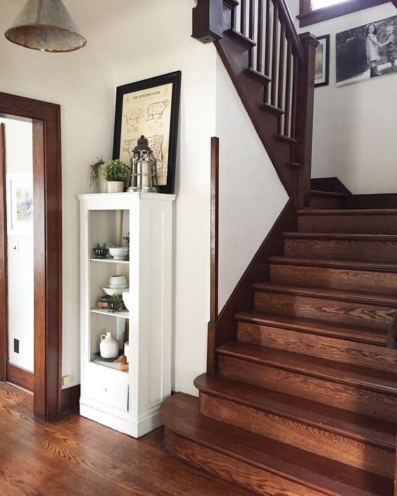 the willow farmhouse original woodwork staircase