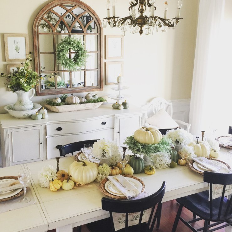 Stunning fall dining room decor farmhouse fall decorating ideas neutral fall tablescape cottage fall