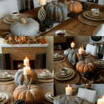 $10 Find Antique Farm Table and Fall Tablescape