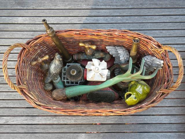 Collection of vintage garden tools