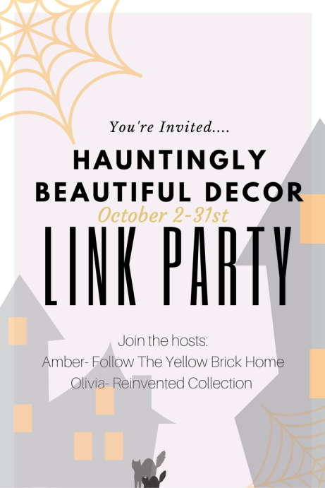 Hauntingly Beautiful Decor Halloween Link Party October 2-31