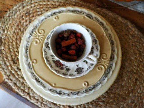 vintage dishes myotts bouquest thanksgiving