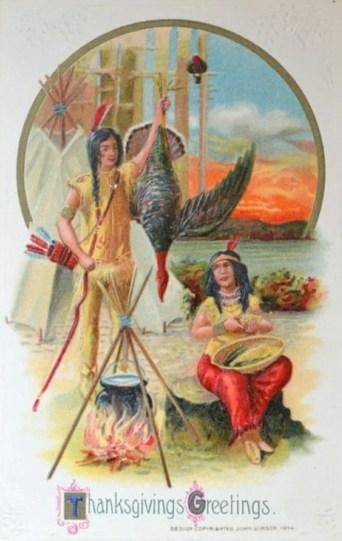 VIntage postcard antique postcard Native American Indians