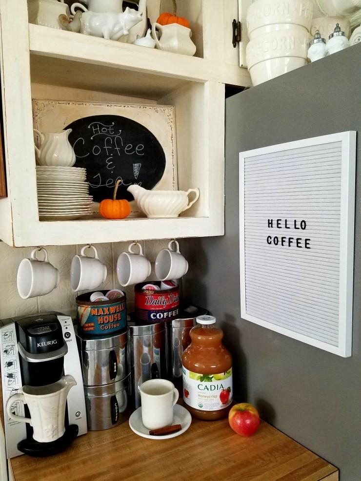 Cute coffee station ideas fall coffee station