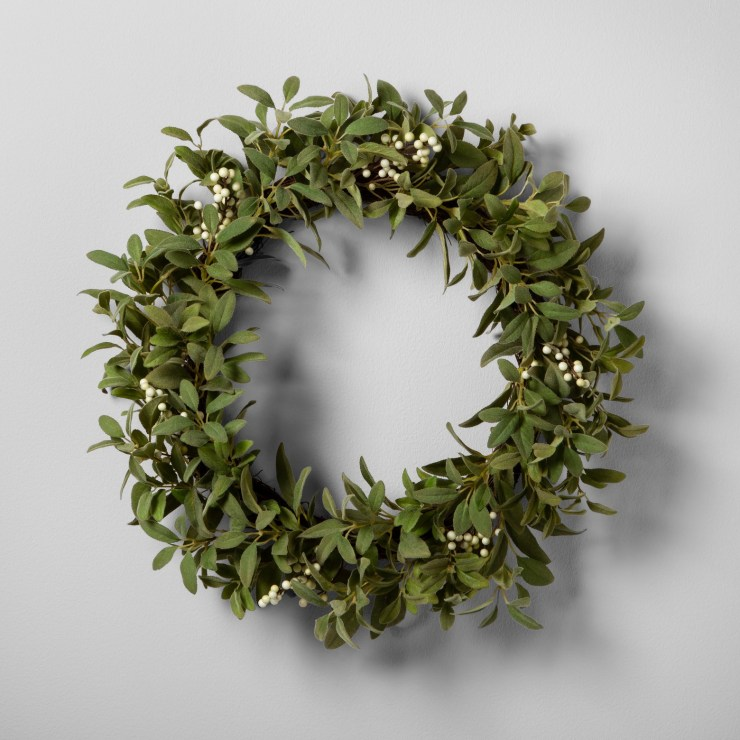 Gorgeous fixer upper wreath lambs ear Joanna Gaines