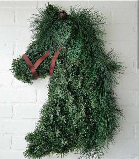 Gorgeous custom horsehead wreath etsy