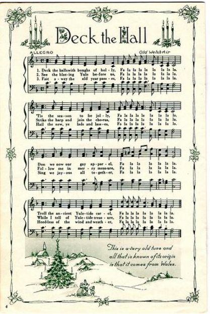 Free Printable Deck The Hall Sheet Music