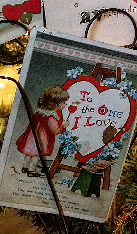 Beautiful collection of antique Valentine's Day postcards