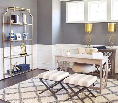 Target home office Chic and Glamorous feminine home office furniture Ameriwood Home #targetstyle