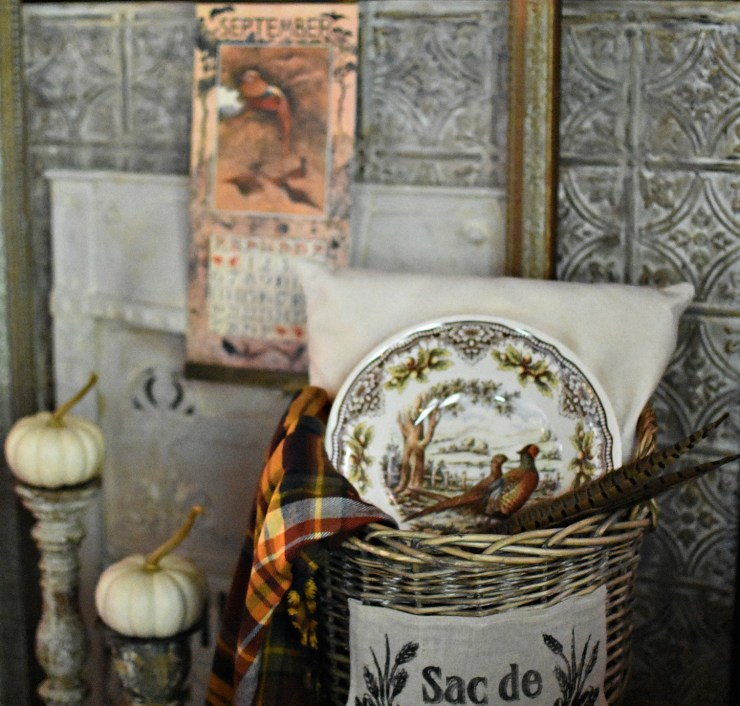 Beautiful pheasant bowl unique fall decorating ideas vintage fall home tour