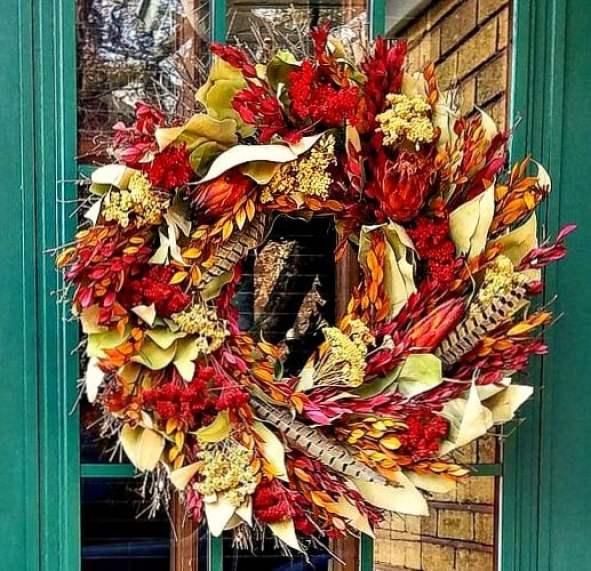 gorgeous preserved wreath fall wreath dried flowers dried botanical wreath fall wreath ideas fall home tour