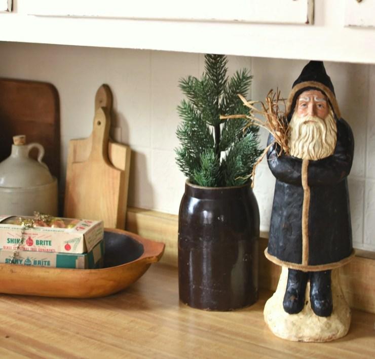 Farmhouse Christmas Kitchen Decor Belsnickel Santa Belsnickle