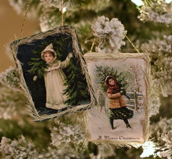 DIY Shabby Chic Victorian Christmas ornaments