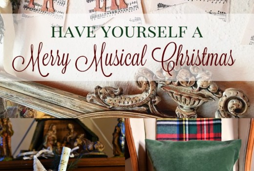 Decorating for Christmas with a musical theme
