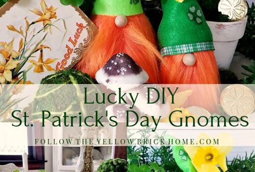 DIY St. Patrick's Day Gnomes Tomte Cute spring gnomes Leprechaun gnomes