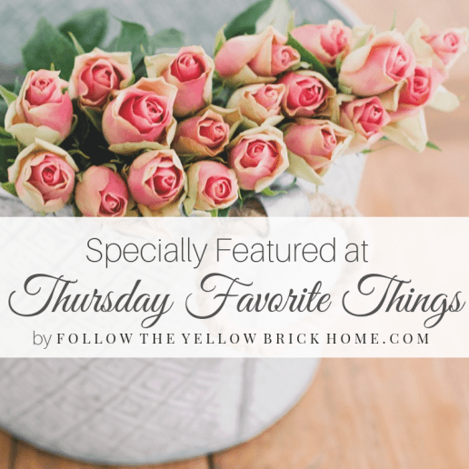 Specially Featured at Thursday Favorite Things Special blog feature