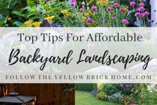 Tips for affordable backyard landscaping budget garden ideas