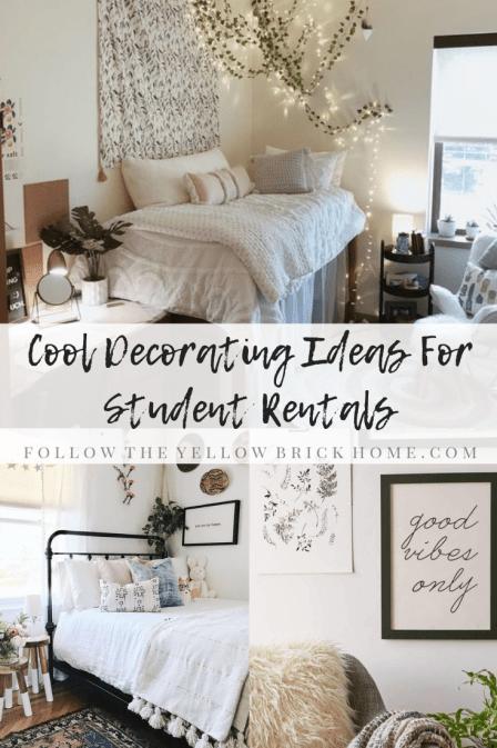 cool decorating ideas for student rentals trendy door decor boho dorm decorating ideas first apartment decor