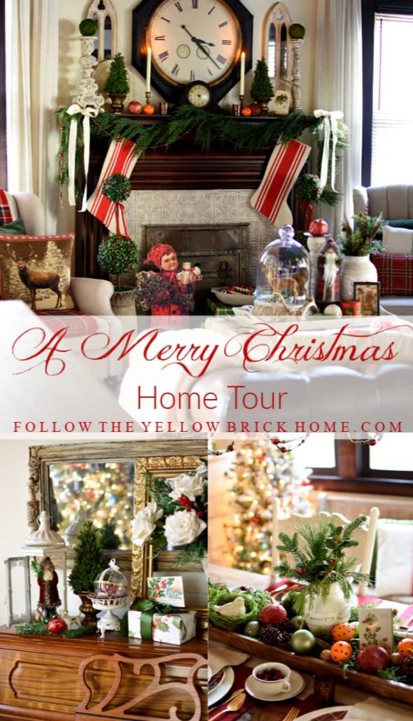 Traditional and vintage Christmas decor Christmas home tour