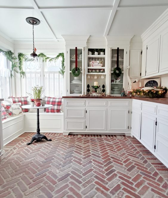 Follow The Yellow Brick Home Beautiful And Timeless Brick Floors And A Kitchen Makeover Sneak Peek Follow The Yellow Brick Home