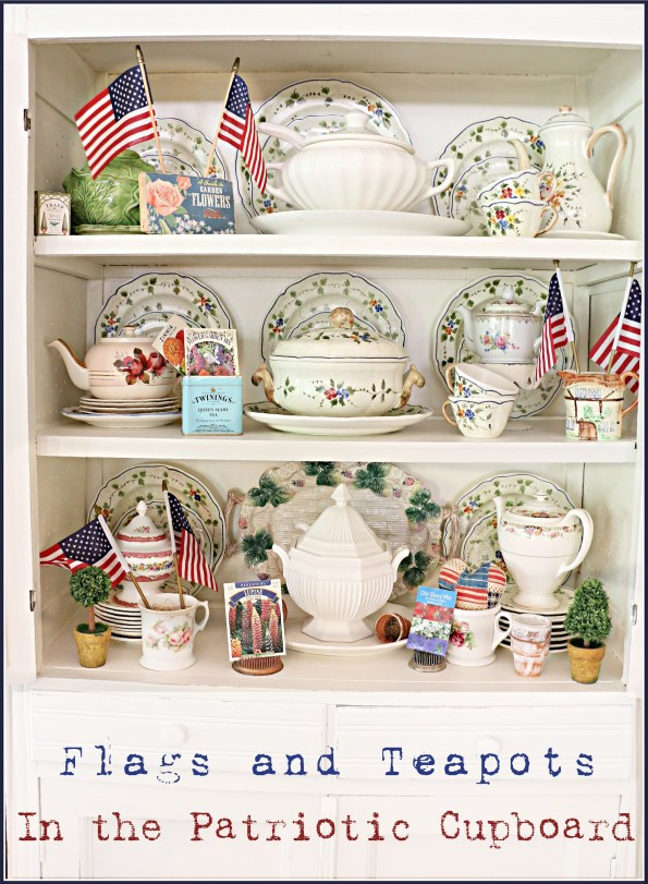 patriotic decor decorating with small American flags