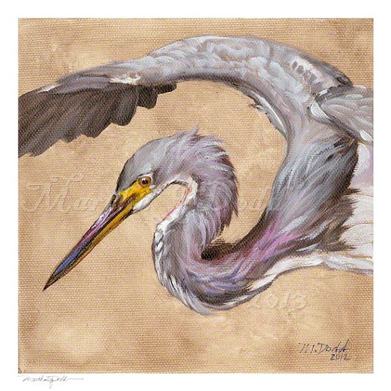 Original Great Blue Heron Painting