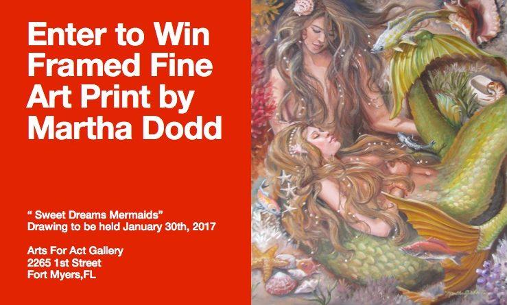 """Win """"Sweet Dreams, Mermaids"""" Framed Print by Martha J Dodd!"""