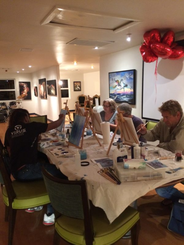 Art Class at the Praise Lounge Gallery in February was a Great Success!