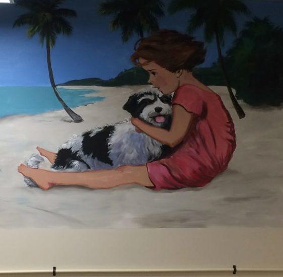 Martha J Dodd's Latest Murals Feature Havanese Puppies!