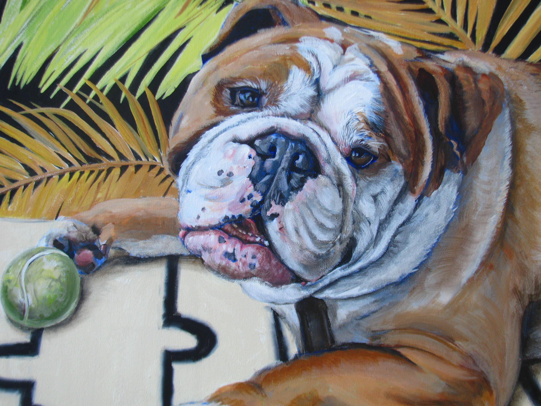 """Blissful Bulldog"" Fine Art Prints"