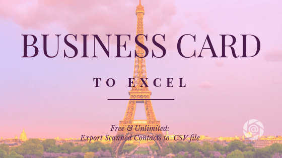 business card to excel a free and unlimited scanned contact to spreadsheet solution with folocard