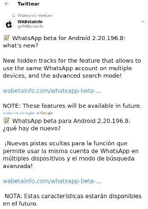WhatsApp multi-dispositivos y mas
