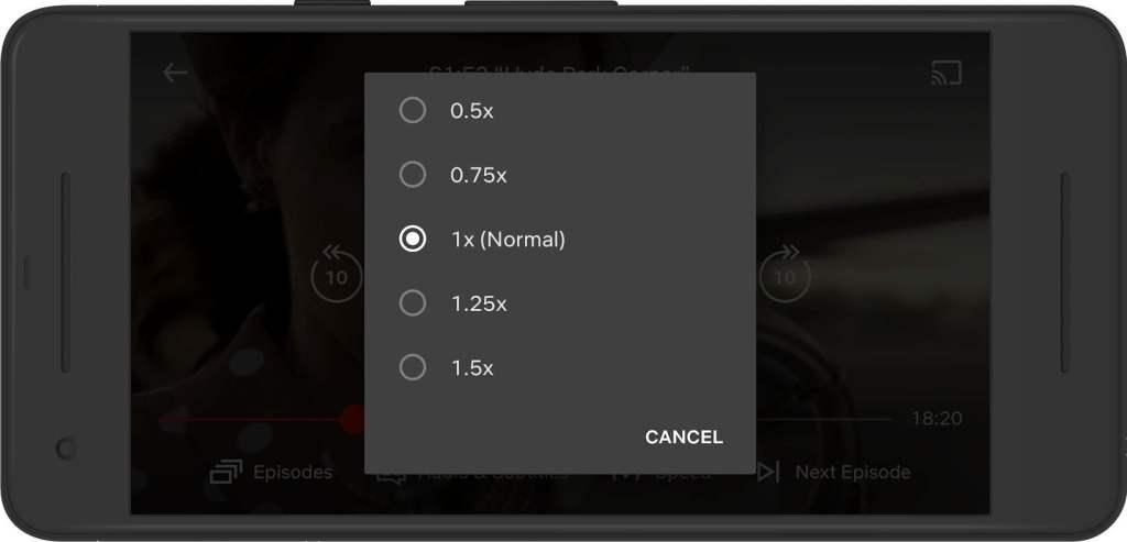 Control de velocidad de Netflix