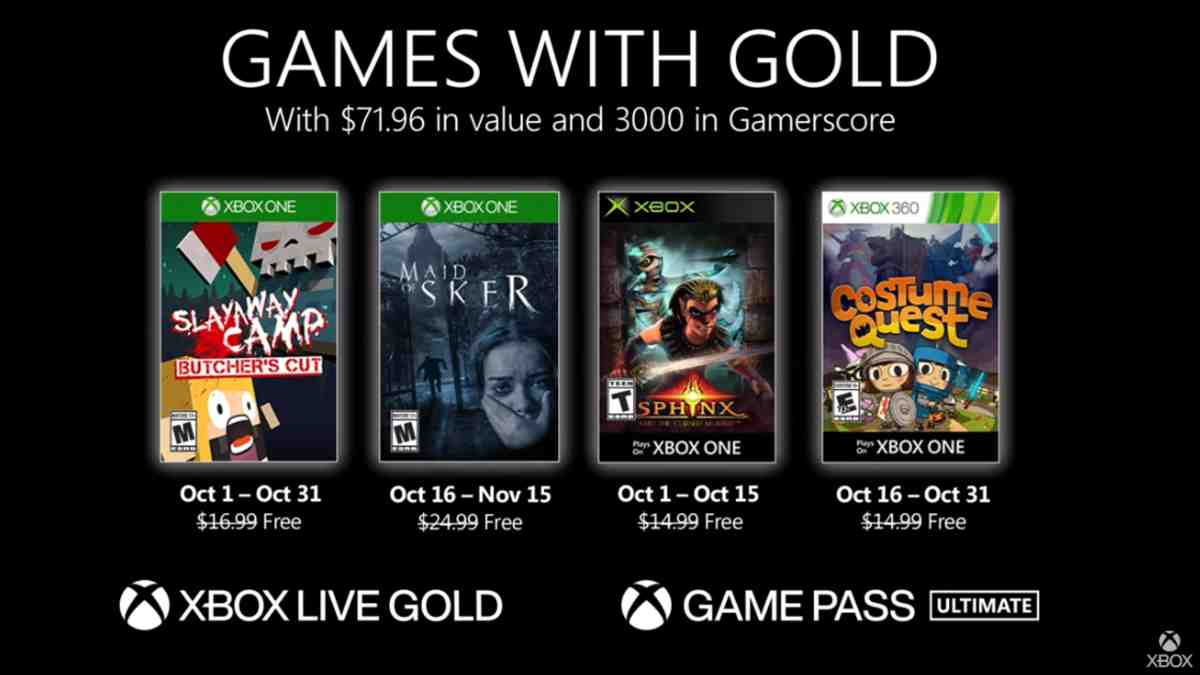 Games with Gold otubre
