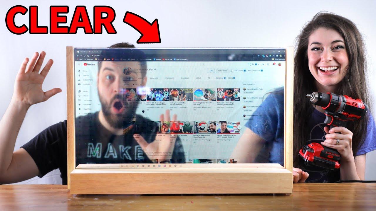 monitores transparentes