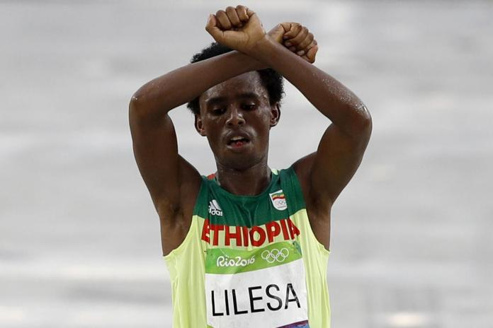 ethiopianmarathonprotest