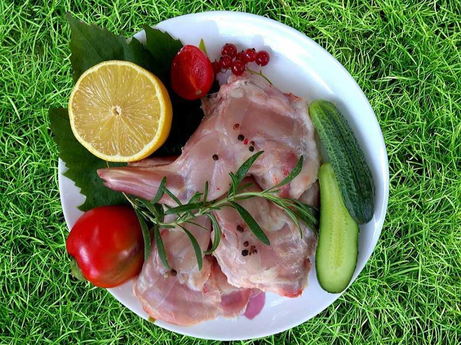 Мясо кролика, лопатка, купить с частной фермы FOLWARK.BY
