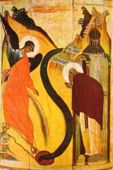 Чудо Михаила Архангела в Хонех. 15 век.