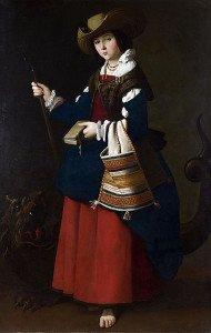 Франсиско де Сурбаран. Святая Маргарита». Национальная галерея, Лондон.