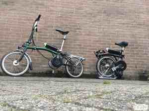 Brompton ombouwen tot elektrische fiets FON Auke Tweewielers