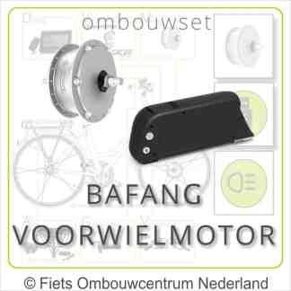Ombouwset met 250W Bafang Voorwielmotor Frameaccu Bafang overzicht 01