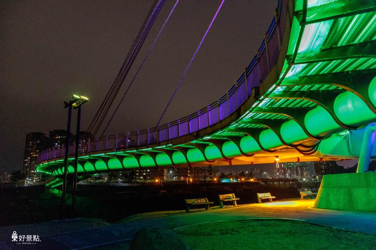  新北。汐止 星光橋-基隆河上璀璨閃耀之最