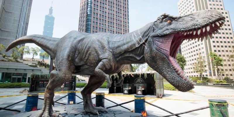 台北信義景點「《侏羅紀世界:殞落國度》蠻荒探險園區」超逼真恐龍現蹤台北市!