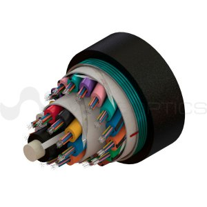 Rendered image of a Loose Tube Single Armored Single Jacket Fiber Optic Cable with 288 Fibers