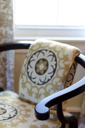 Painted and reupholstered Ming chair