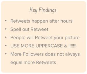 Retweet Study: Key findings