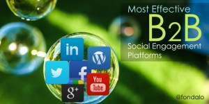 What are the top B2B engagement sites and apps?