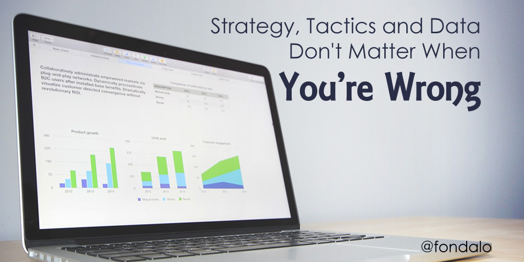 Strategy, Tactics and Data Don't Matter When You're Wrong