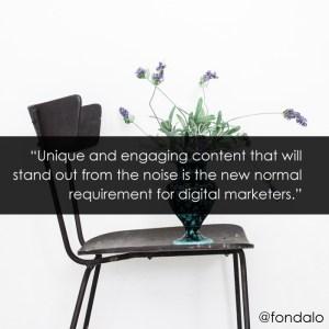 Unique content marketing gets results