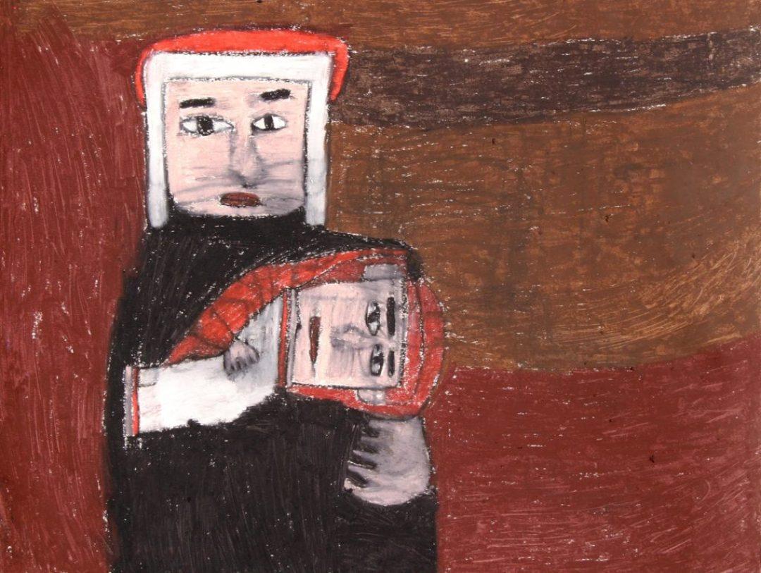 Alexis Lippstreu, Sans titre, 2008, pastel à l'huile sur papier, 55 x 73 cm